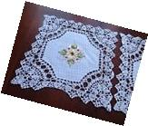 "6 PCS 10"" Square Crochet Lace Doily COLOR white  100 %"