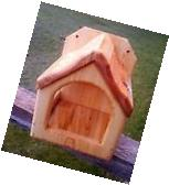 Square decorative, Dove or Robin cedar wood nesting shelf,