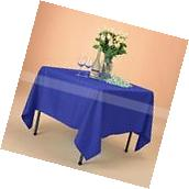 """85x85"""" Square Royal Blue Polyester Tablecloth Table Cover"""