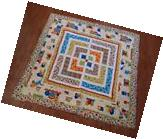 Large Square Table Cover - Quilted - Bright & Colorful