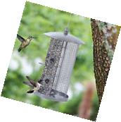 Squirrel Proof Wild Hanging Bird Feeder Seed Metal Garden