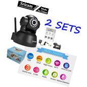 2Pack Sricam 3MP 720P Wireless IP Camera WiFi Security Night