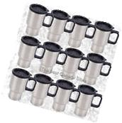 WHOLESALE Lot of 12 Stainless Steel Travel Mug 14oz with