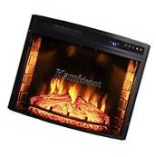 "30"" Free Standing Insert Wood Flame Electric Firebox"