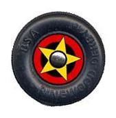 Star Bullseye Pinewood Derby Car Wheel Decal