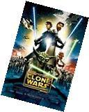 STAR WARS POSTER ~ THE CLONE WARS MOVIE 27x40 Yoda Anakin