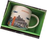 "STARBUCKS CHICAGO MUGS YOU ARE HERE ""FREE SHIPPING, 14oz."