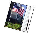 10ft Aluminum Outdoor Flag Pole Kit - White wf