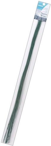 """Stem Wire 26 Gauge 18"""" 40/Pkg-Green"""