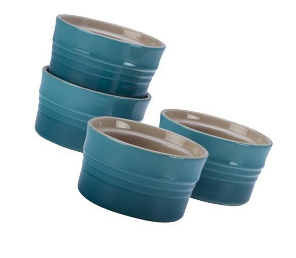 Le Creuset Stoneware Set of 4 Stackable Ramekins, 7-Ounce,