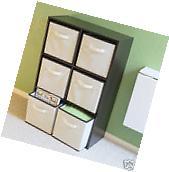 Storage Foldable Closet Cube Organizer Basket 6 Box Pack
