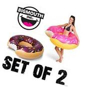 Strawberry & Chocolate Donut Pool Float Inflatable Tube ~
