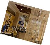 String Door Curtain Room Divider Window Panel Tassel Crystal