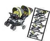 Baby Stroller For Two Child Twins Girls Boys Double 2 Infant