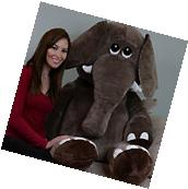 Stuffed Animal 5 Feet Giant Elephant Microfiber Body Plush