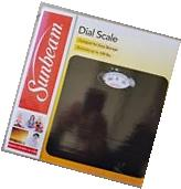Sunbeam-Rotating-Dial-Bathroom-Scale-Black