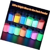 13x Super Bright Glow-in-the-Dark Powder Fluorescent Pigment