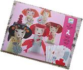 Super-Cute Japanese KOKESHI PAPER DOLL MAKING KIT--Fun for