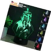 Super Hero Batman 3D Acrylic LED 7 Color Night light Touch