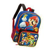 Super Mario Bros Brothers Boy Yoshi Luigi School Backpack