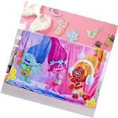 Super Soft Dreamwork Trolls Plush Fleece Throw Blanket Home