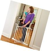 North States Supergate Easy Close Metal Gate, White Baby