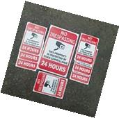 VIDEO SURVEILLANCE Security Decal  Warning Sticker set of 8