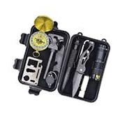 Survival Gear Kit Professional Multi Function 10 in 1