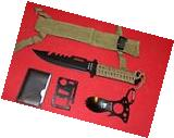 SURVIVAL GEAR KNIFE TACTICAL FISHING HUNTING HIKING CAMPING