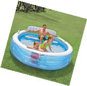 Intex Swim Center Family Lounge Inflatable Above Ground Pool
