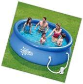 "Swimming Pool Above Ground Round 10' x 30"" Patio Garden"