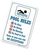 My Sign Center Swimming Pool Rules Safety Sign, Plastic - 14