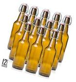 Estilo Swing Top Easy Cap Glass Beer Bottles Amber 16 oz Set