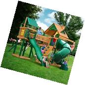 Kids Swing Set Wooden Playsets Outdoor Backyard Playground