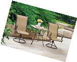 Swivel Chairs Bistro Set Table Garden Pool Patio Outdoor