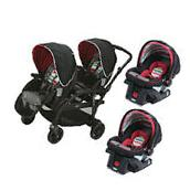 Graco Travel System Modes Duo Stroller & 2 SnugRide Click