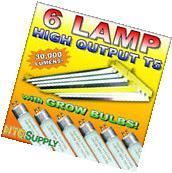 T5 HO Fluorescent 4ft - 6 Lamp Grow Light x hydrofarm