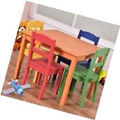 Kids Table And Chairs Set Activity Wooden Drawing Square