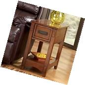 Small End Table Living Room Oak With Storage Drawer Side For