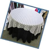 Table Overlay Floral Lace 72 X 72 Inches Square Tablecloth