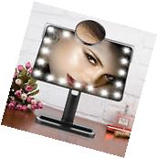 Tabletop Touch Lighted Vanity Cosmetic Makeup Mirrors with 20 LED 10X Magnifying