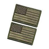 New Tactical USA Flag Patch Subdued Tan Velcro American Flag