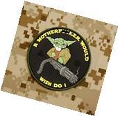 Tactical Yoda Mini Gun 3D PVC Patch Morale Ac-130 Door