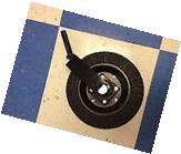 """HOWSE  BUSH HOG TAIL WHEEL ASSEMBLY ROTARY CUTTER 1-1/4"""""""