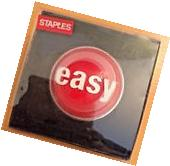Staples Talking Easy Button New With Batteries Included