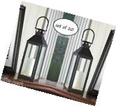 "10 lot large 15"" tall BLACK Candle holder Lantern Lamp"