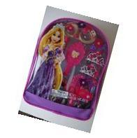 Disney Princess Tangled Hair Care Backpack -Mini Tiara, Clip