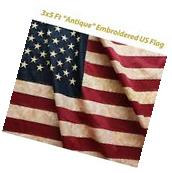 ANLEY¨  Tea Stained American US Flag 3x5 Foot Nylon - Stars