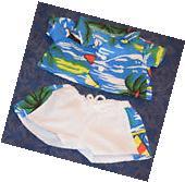 Teddy Bear HAWAIIAN SHIRT & SHORTS  Outfit CLOTHES Fit 14-18