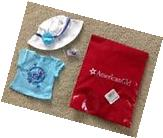 NEW American Girl Tee, Hat, And Bracelet Set For Doll